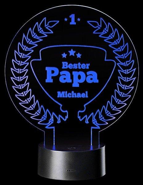LED-Leuchte für Papa mit Personalisierung