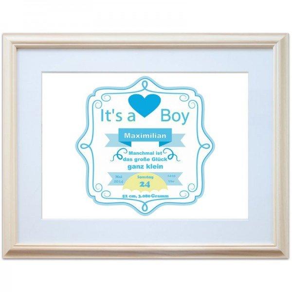 Wandbild - It's a Boy