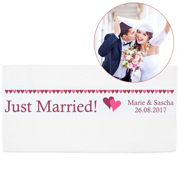 Handtuch - Just Married