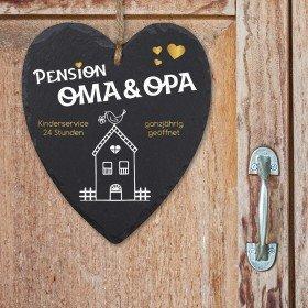 Schieferherz - Pension Oma und Opa