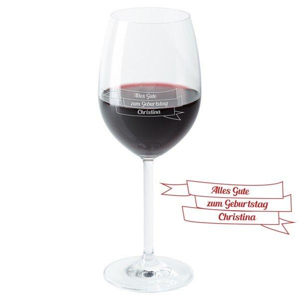Weinglas - Herzlichen Glückwunsch
