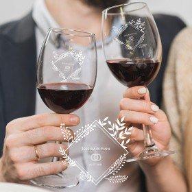 Weinglas Set zur Hochzeit