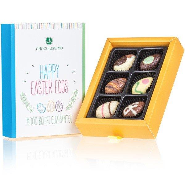 Schokoladen-Pralinen Happy Easter Eggs