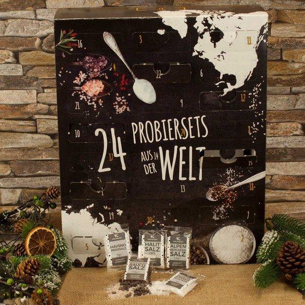 adventskalender 24 salze aus aller welt. Black Bedroom Furniture Sets. Home Design Ideas