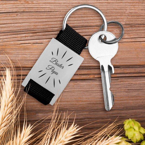 Schlüsselanhänger - Bester Papa mit Wunschname