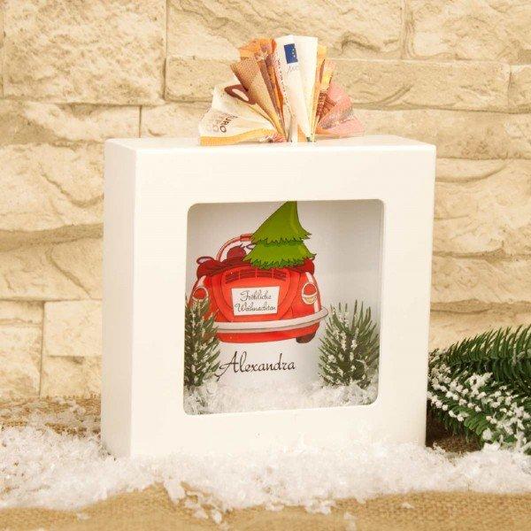 Personalisierte Spardose mit Weihnachtsmotiv5