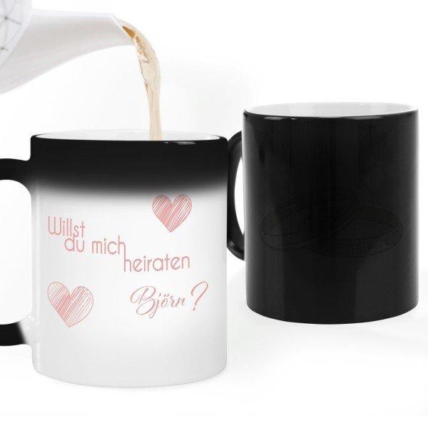Magic Tasse - Willst du mich heiraten mit Wunschname