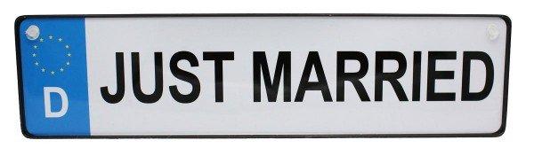 Just Married Autokennzeichen