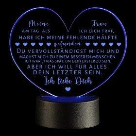 LED-Leuchte Herz - Ich liebe Dich