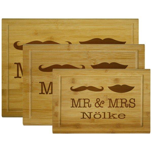 Holzbrettchen - Mr & Mrs