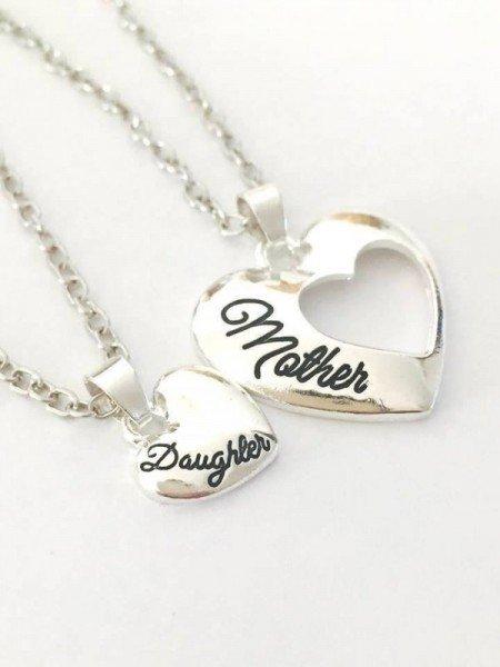 Halskette - Mutter und Tochter - Herzdesign
