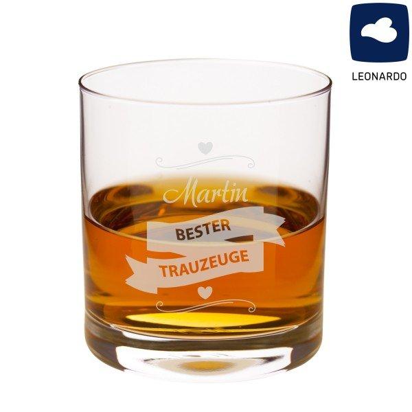Whiskyglas - Bester Trauzeuge mit Personalisierung