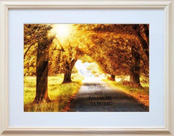 Bild - Herbstspaziergang (Naturfarben)