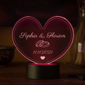 LED-Herzleuchte zur Hochzeit