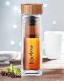 Tea Bottle - Teeflasche aus Glas mit Personalisierung