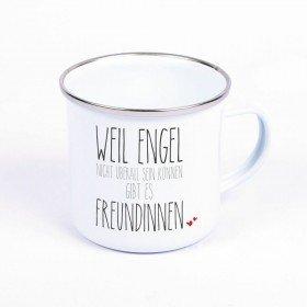 Metalltasse - Engel - Freundinnen