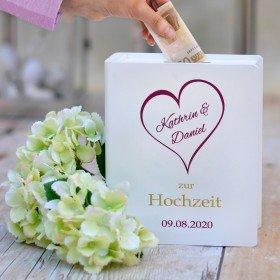 Sparbuch zur Hochzeit mit Gravur