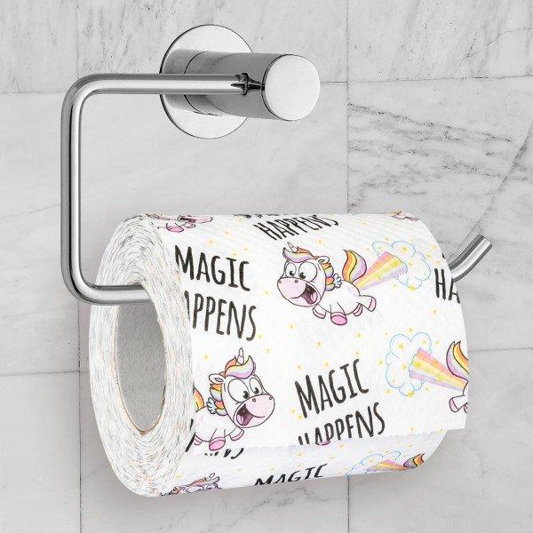 Witzigspassgeschenke - Toilettenpapier Magic Happens - Onlineshop Geschenke24