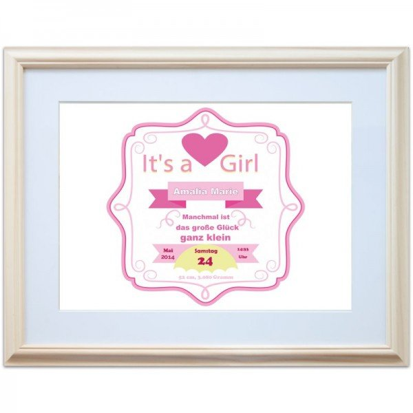 Wandbild - It's a Girl