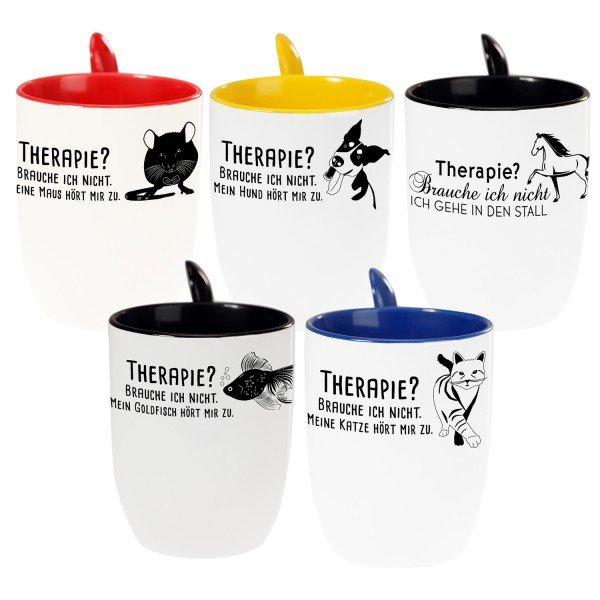 Tasse mit Löffel - Haustier
