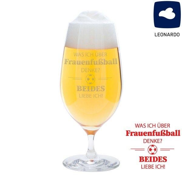 Bierglas - Was ich über Frauenfußball denke