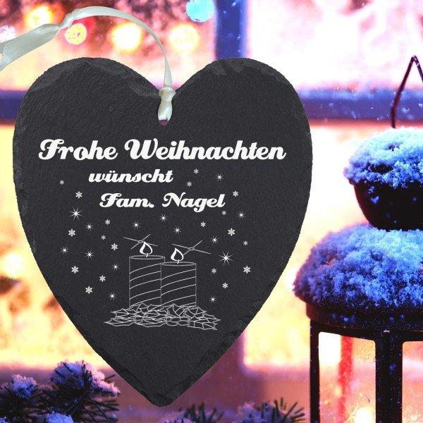 Schieferherz - Weihnachten