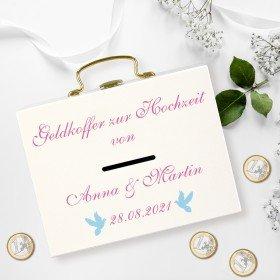 Geldkoffer zur Hochzeit - Tauben