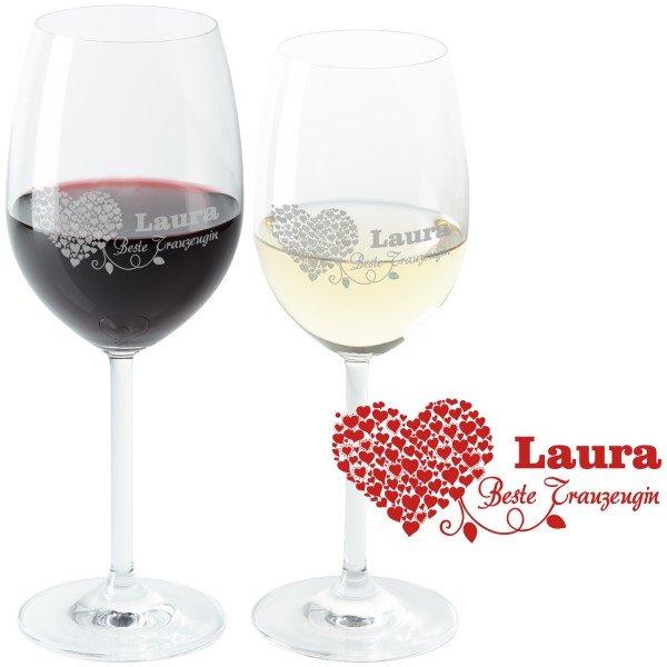 Weinglas - Beste Trauzeugin mit Namensgravur