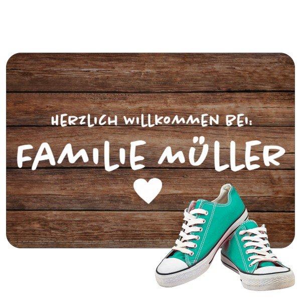 Fußmatte - Rustikal mit Personalisierung