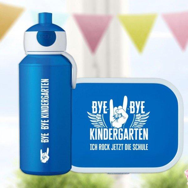- Bye Bye Kindergarten Brotdose und Trinkflasche - Onlineshop Geschenke24