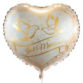 Herzballon - Goldfolie
