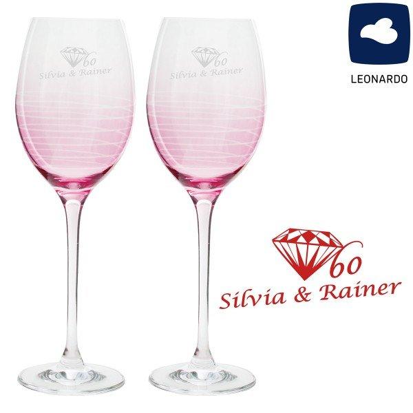 Weinglas Set - Diamanthochzeit