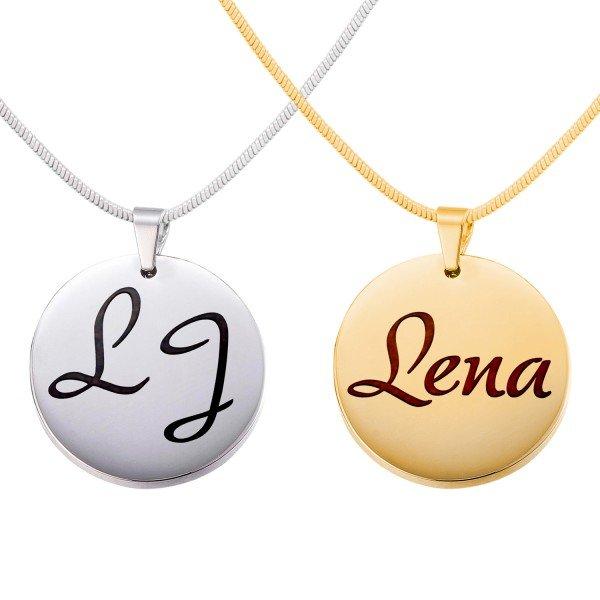 Kreisrunde Halskette mit Personalisierung