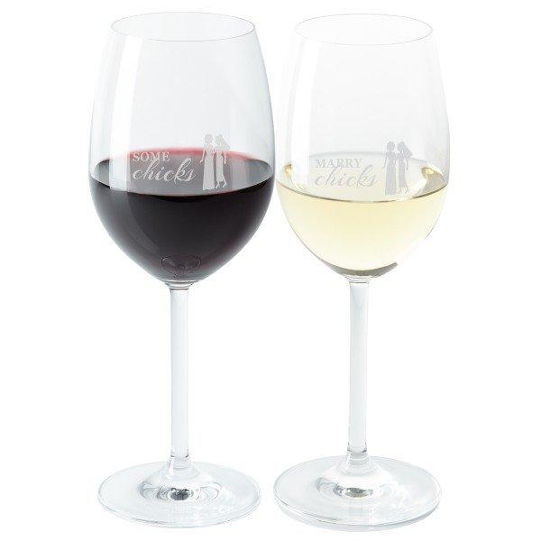- Weinglas Set Chicks - Onlineshop Geschenke24