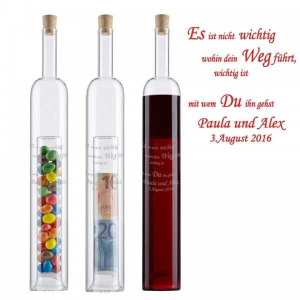 Geschenkflasche - Gemeinsamer Weg