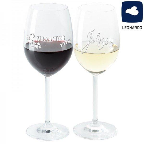 Weinglas mit Gravur