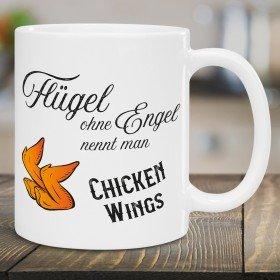 Tasse - Flügel ohne Engel nennt man Chicken Wings