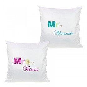 Kissen Set - Mr. und Mrs.
