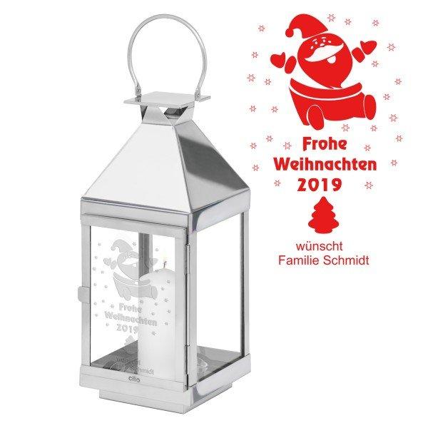 Laterne - Weihnachtsmann