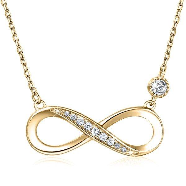 Halskette Unendlichkeit 925er Silber mit Kristall