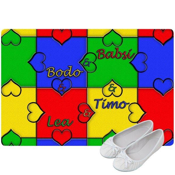 Fußmatte - Herzpuzzle