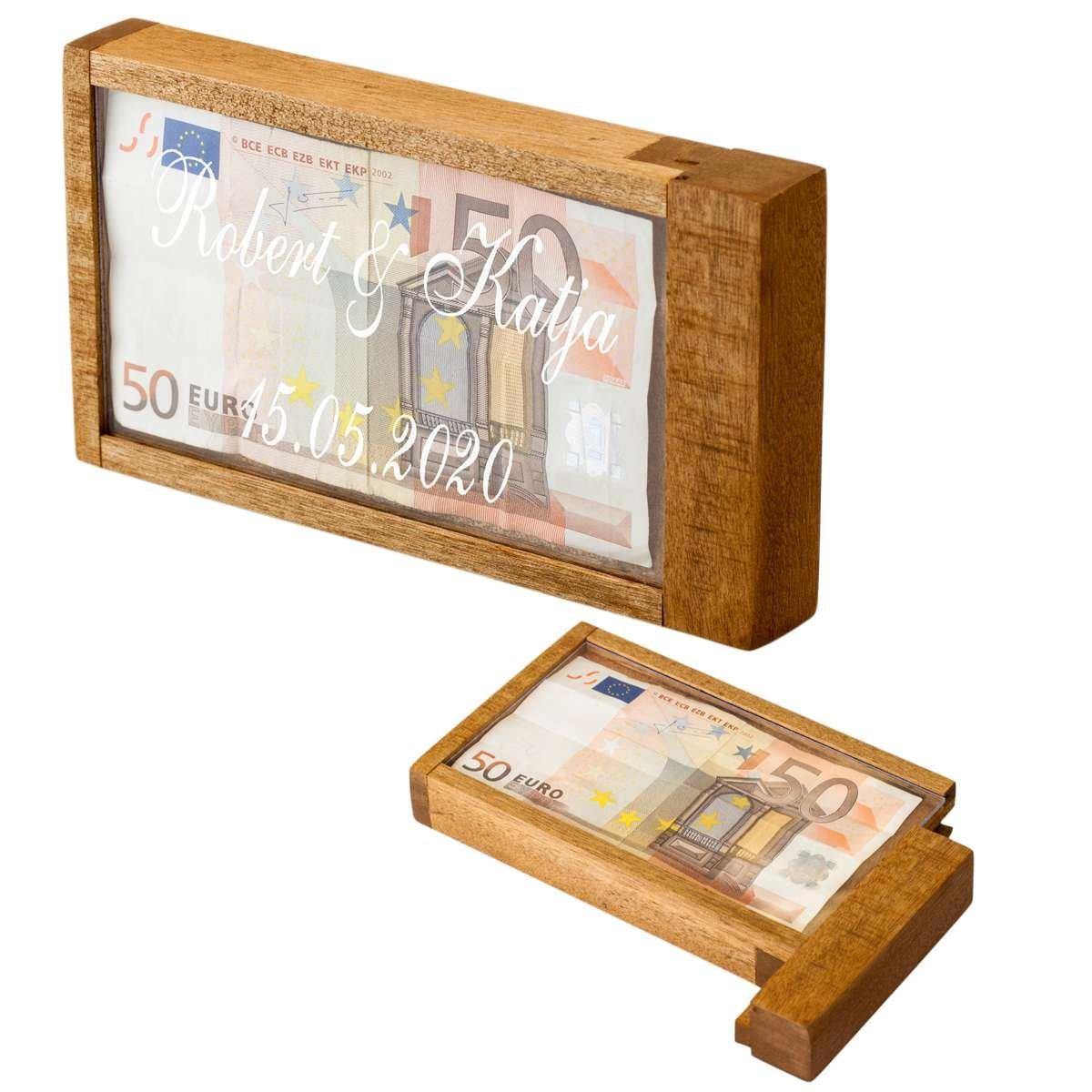 Magische Geldgeschenkebox mit Gravur
