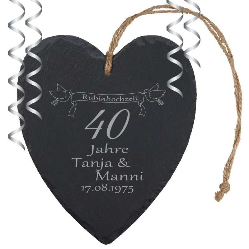 rubinhochzeit geschenke | personalisiertes zum 40. hochzeitstag, Einladung
