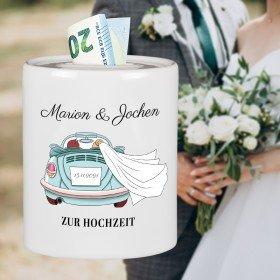 Spardose zur Hochzeit - Auto