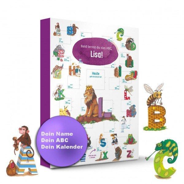 ABC Schulstart Kalender mit Personalisierung