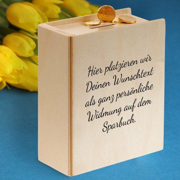 - Sparbuch mit Wunschtext - Onlineshop Geschenke24