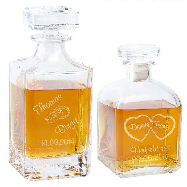 Whiskykaraffe mit Liebesgravur und Personalisierung
