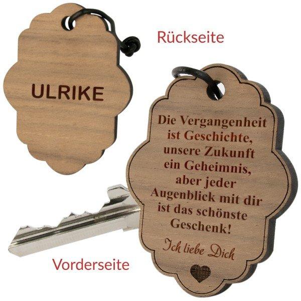 """Schlüsselanhänger """"Wolke Vergangenheit"""" mit Gravur"""