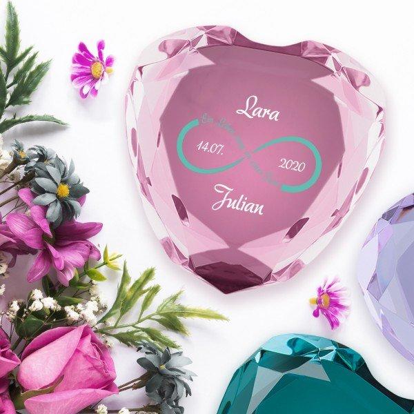 Herz-Diamant Unendlichkeit mit Personalisierung