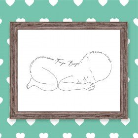 Wandbild zur Geburt